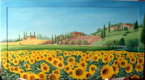 Quadri Paesaggi - colline toscane / Pittori e Quadri