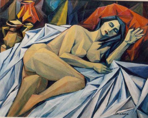 Nudi - Nudo di donna addormentata / Pittori e Quadri