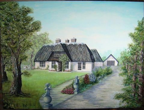Quadri paesaggi cottage inglese pittori e quadri for Planimetrie inglesi del cottage