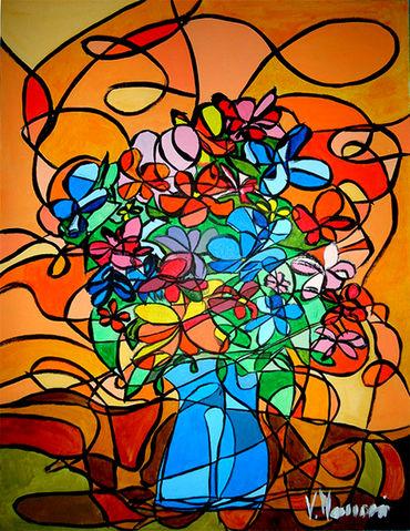 Quadri naif fiori pittori e quadri for Immagini di quadri con fiori